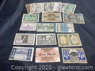 Mostly Circulated Pre World War 2 , 1 Mark Notes