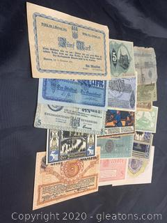 Circulated Pre World War 2 ,5 Mark Notes