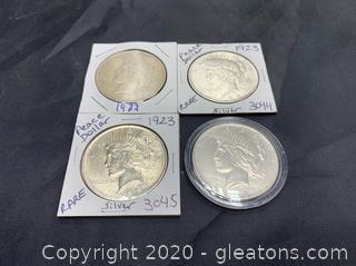 Set of 1922 & 1923 Silver Peace Dollars