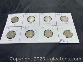 Lot of Circulated Buffalo Nickels