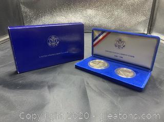 1986 U.S. Mint 1oz Silver Liberty Coins Proof Set