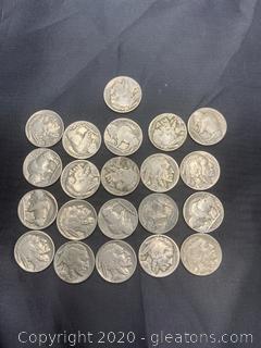 1930s Era Buffalo Nickels Grab Bag