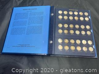 Complete Set of Roosevelt Dimes In Collectors Book