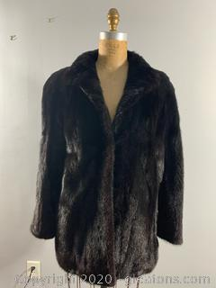 Black Opal Mink Short Coat