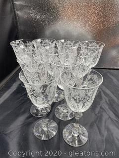 """June Night (No Trim)"" by Tiffin-Franciscan Water Goblets"