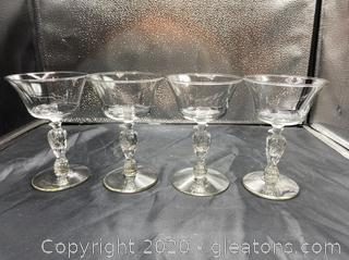 """Liberty Bell"" by Libbey Glass Company Champagne/Sherbet Glasses"
