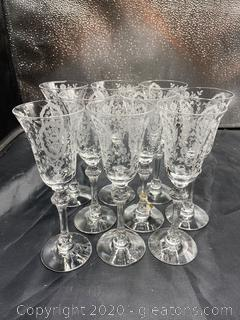 """June Night (No Trim)"" by Tiffin Franciscan Sherry Glasses"