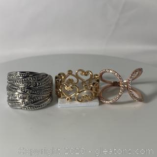Assortment of Three Highend Fashion Rings