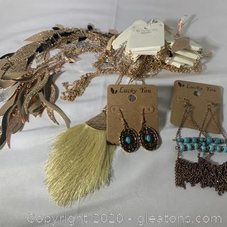 An Assortment of Costume Jewelry