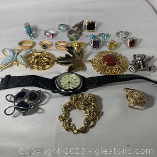 Bundle of Misc. Costume Jewelry