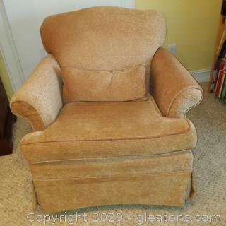 Upholstered Rolled Arm Accent Chair