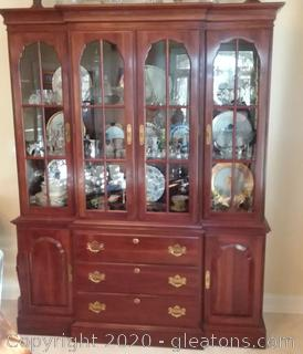 Knob Creek Lighted Cherry China Cabinet – Cabinet Only