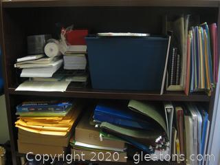Wood/Laminate 4 Shelf Bookcase