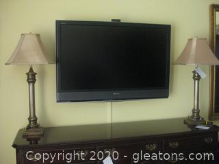 "Sony Bravia Flat Screen 46"" TV"