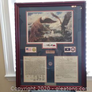 """Limited Edition Lithograph """"Freedom"""" by Michael Sloan Presented to Governor Ernie Fletcher """"The Bluegrass State"""""""