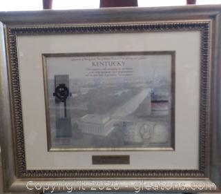 Framed Symbols of Our Nation and Kentucky- Given to Governor Fletcher by Drik Kempthorne