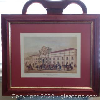 """Casa De Moneda De Santiago"" Framed Print"