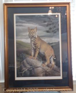 """Limited Edition Signed and Numbered """"Wild Cat"""" Print"""