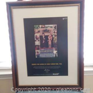"""Framed """"Thank You"""" to Cameron Crowe and Paramount Pictures for Gov. Fletcher and People of KY-Elizabethtown"""