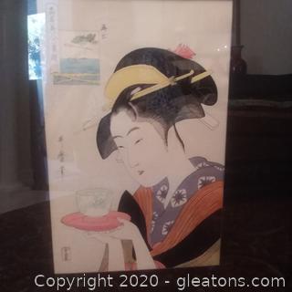 "Utamaro Woodblock Print ""Ohkubi-E or Big-Head Pictures"""