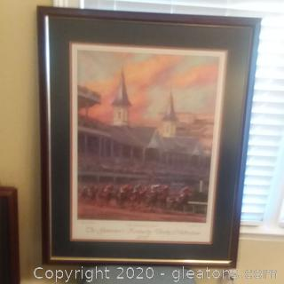 """Special Edition Signed Poster of the  Kentucky Derby """"The Governor's Kentucky Derby Celebration 2007"""""""