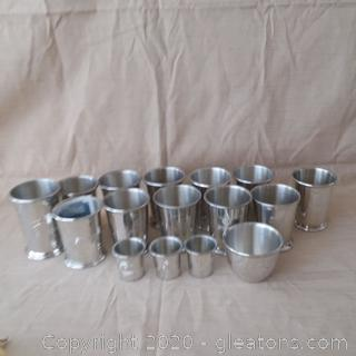 Pewter Cup Lot