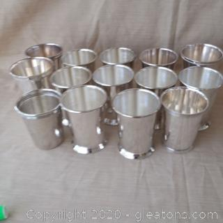 Silverplate Mint Julep Cups-Most are Engraved and Refer to Gov. Fletcher