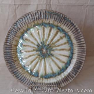 """""""The Good Earth Dinnerware"""" Decorative Plate with Stand"""