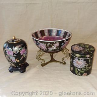 Asian Home Decor Black, Pink, Lavender