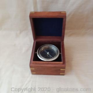 Nostalgic Maritime Desk Compass