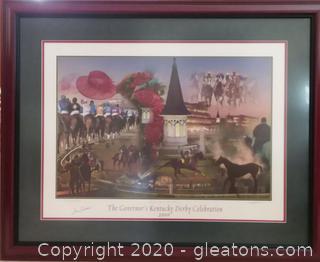 """Special Edition """"The Governor's Kentucky Derby Celebration"""" 2006 Framed Print"""