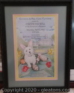 Framed Easter Egg Roll At Gov. Mansion Advertising Poster