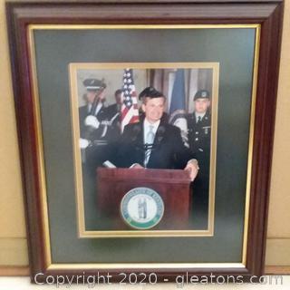 Framed Photo of Governor Ernie Fletcher of Kentucky