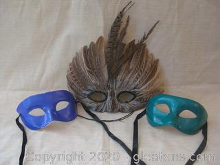 Mardi Gras Mask Group B From Kentucky Governor's Masquerade Ball