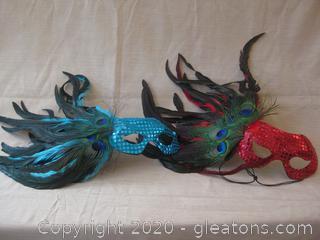 Mardi Gras Mask Group A From Kentucky Governor's Masquerade Ball
