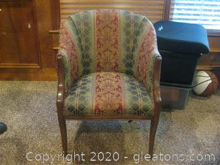 Vintage Upholstered Neo-Classic Style Accent Chair