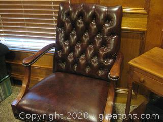 Beautiful Executive Office Chair by Hickory Leather Company