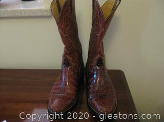 Exotic Alligator Men's  Dress Cowboy Boots