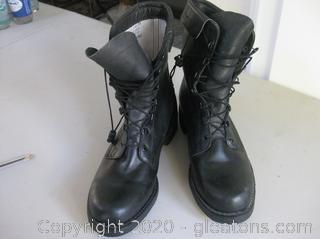 Black Military Pilot's Men's Flight Boots