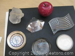 Collection of Varied Paper Weights