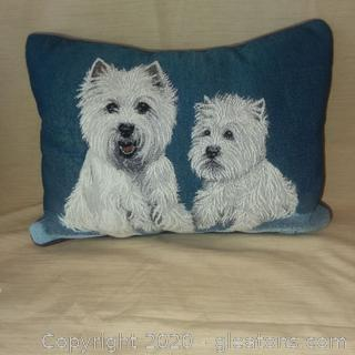 Westie Needlepoint Pillow