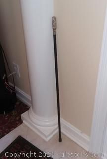 Black Cane with Silver Handle
