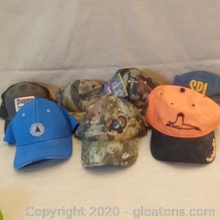 Set of 7 Never Worn Ball Caps