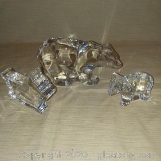 3 Piece Group of Crystal Animals