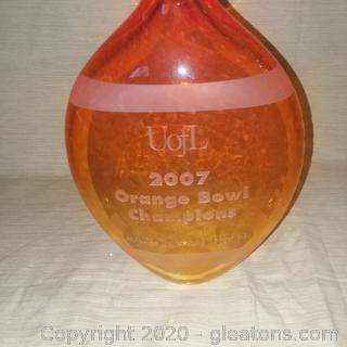U of Louisville 2007 Orange Bowl Champions Commerative Vase