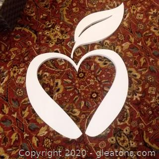 Apple Wall Decor Wood Cut Out