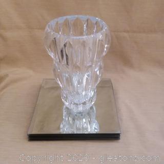 Ridged Vase and Display Mirrors