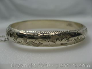 Kids Sterling Silver Bangle Bracelet
