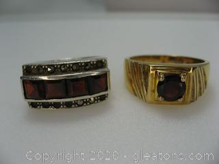 Set of 2 Mens Rings