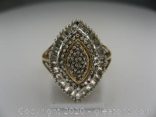 10kt Yellow Gold Diamond Ring